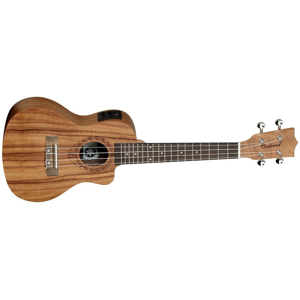 TANGLEWOODTANGLEWOOD TWT16E TIARE CONCERT UKE KOA W/PICKUP - Harry Green Music World - Buy online