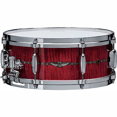 TAMA STAR SERIES RASPBERRY CURLY MAPLE 6.5″ X 14″ SNARE