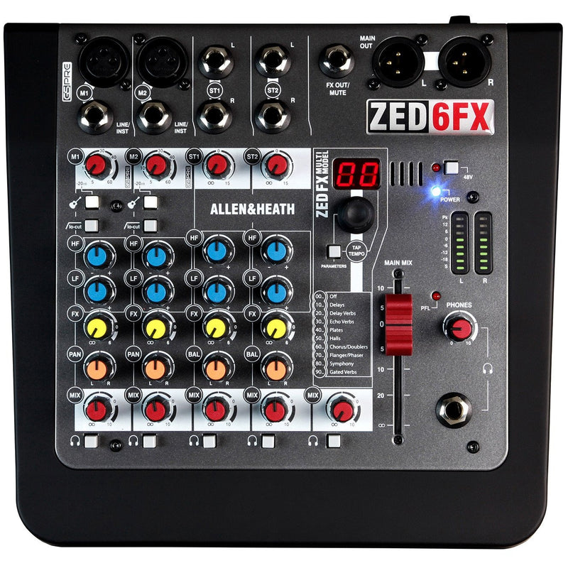 ALLEN & HEATH ZED-6FX TOP