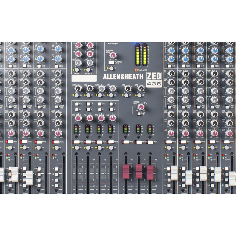 ALLEN & HEATH ZED-436 CLOSEUP