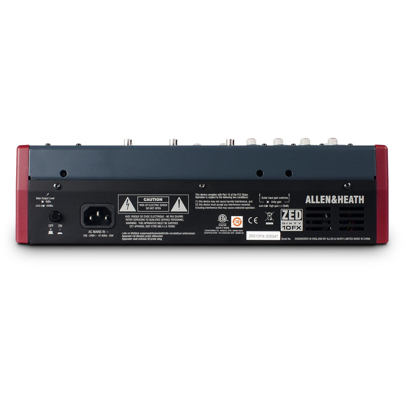 ALLEN & HEATH ZED60-10FX BACK