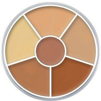 Concealer Wheel by Kryolan Cosmetics - Super Powerful TV Strength Concealer - MyMakeup.Store by Jacqueline Kalab