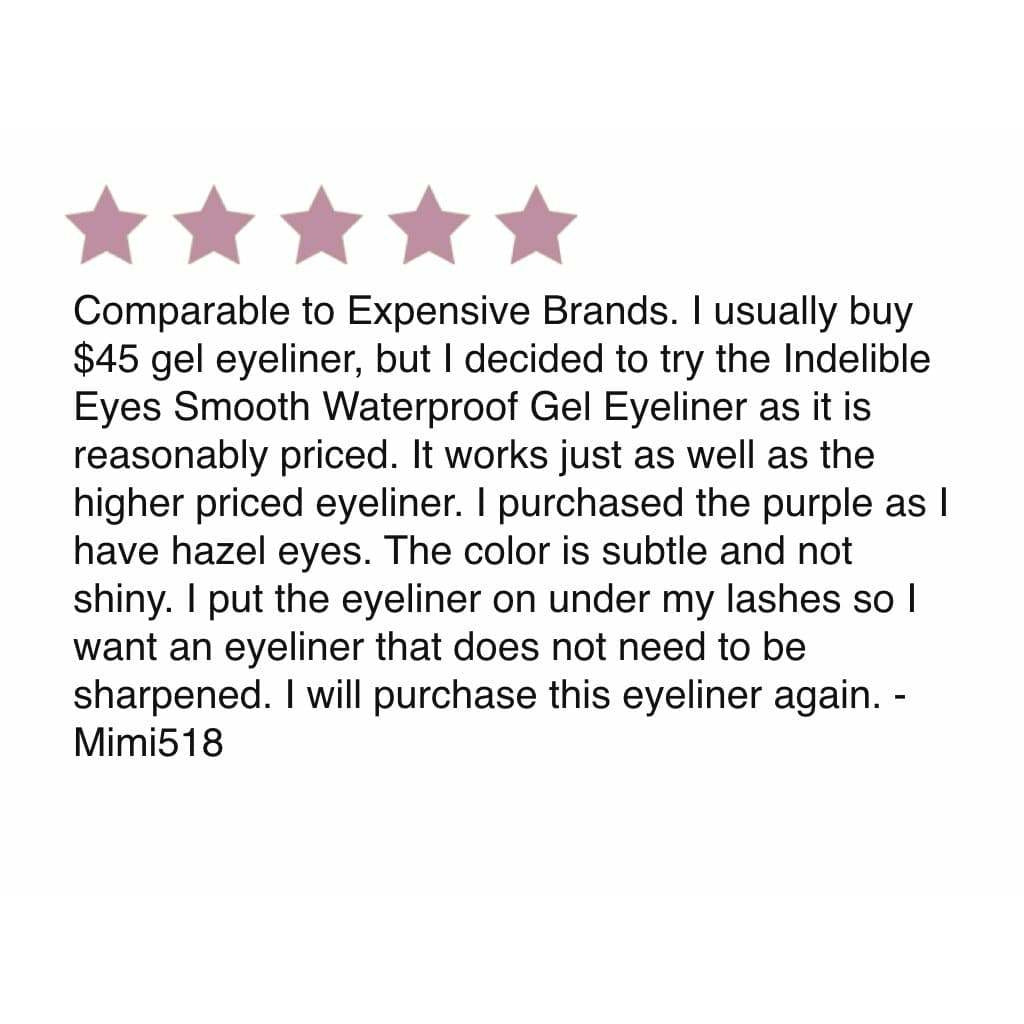 Indelible Eyes Gel Eyeliner Pencil Twist-Out Smooth Waterproof + Smudger Tip, by Jacqueline Kalab - MyMakeup.Store by Jacqueline Kalab