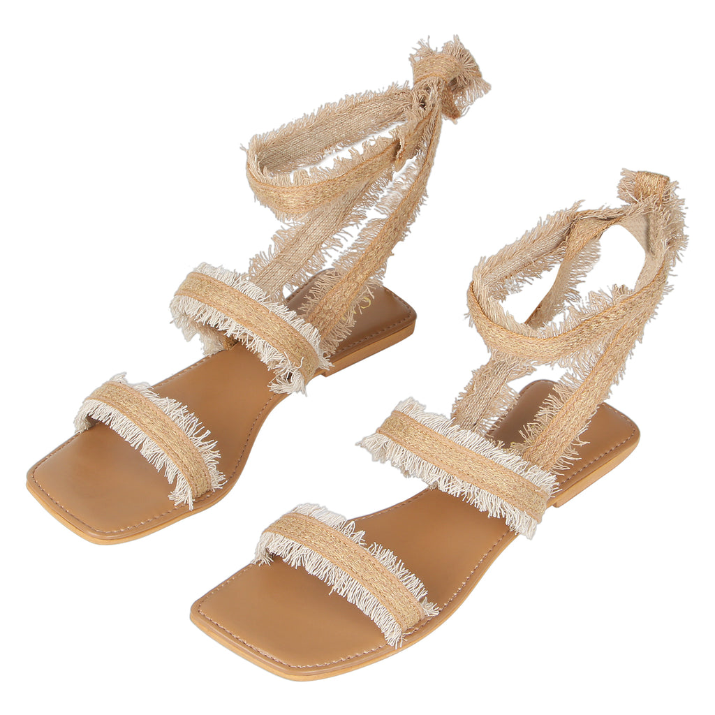 Strings Attached Tie up flats