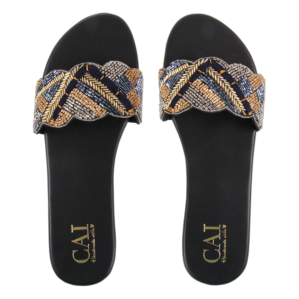 Royal Beaded Flats