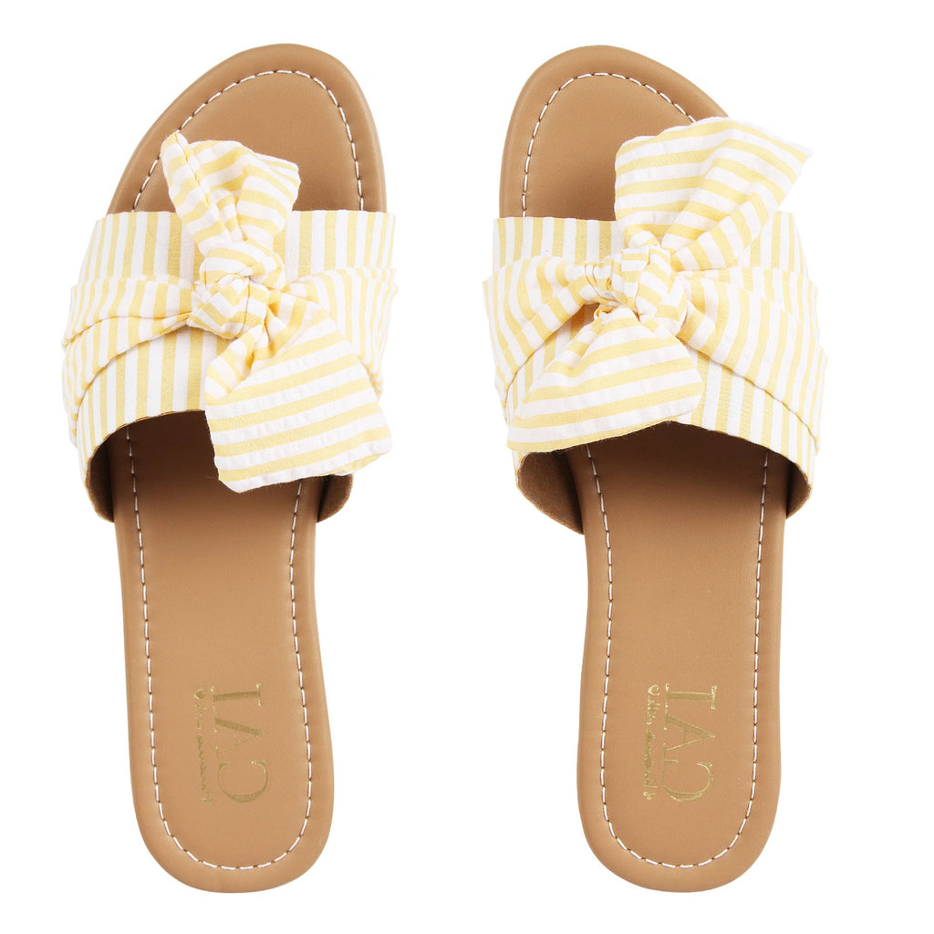 Yellow Stripe Knotted Slides