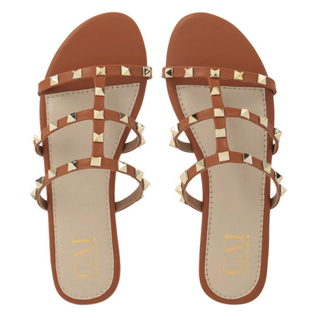 Brown embellished Sandals