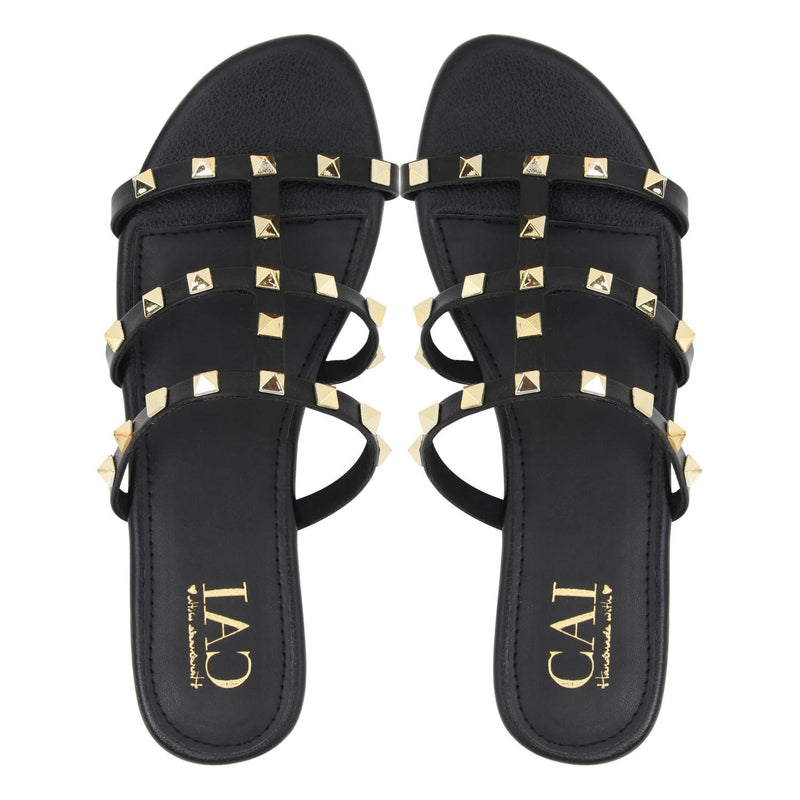 Studded Slide Black