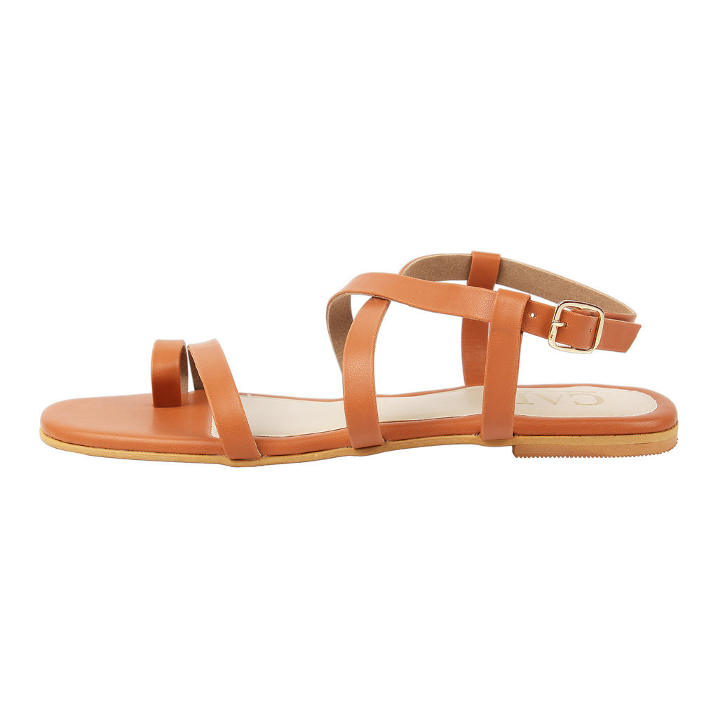 Tan Strappy Sandals