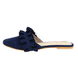 Navy Twin Ruffle
