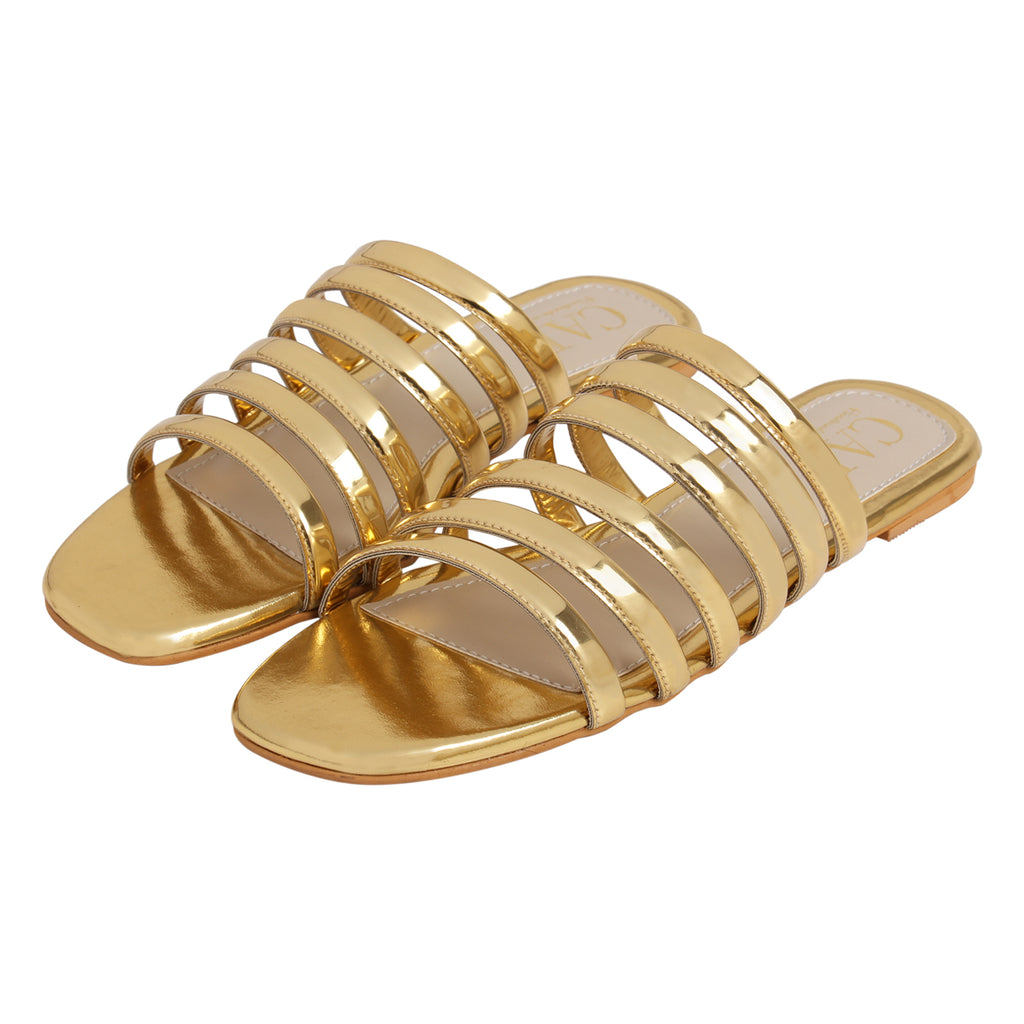 Metallic Multi Strap Slide