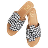 Knotted Gingham Black