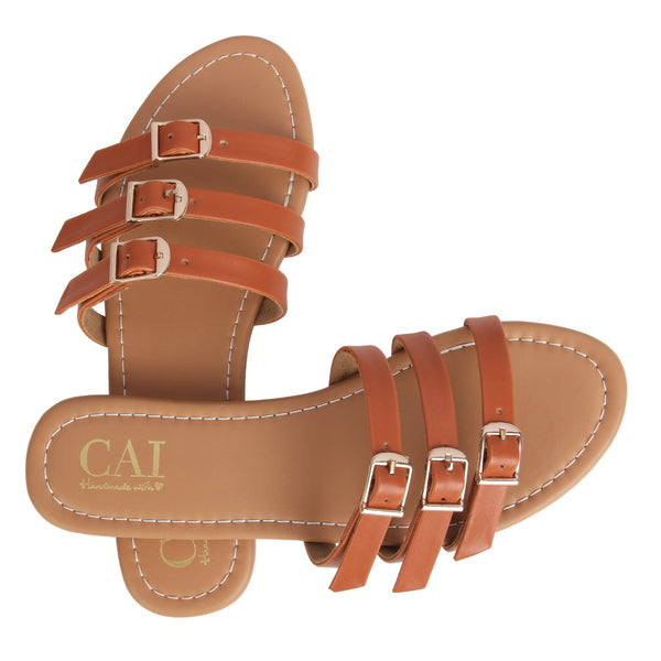 Buckled Straps Tan