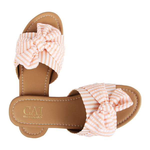 Orange Stripe Knotted Slides