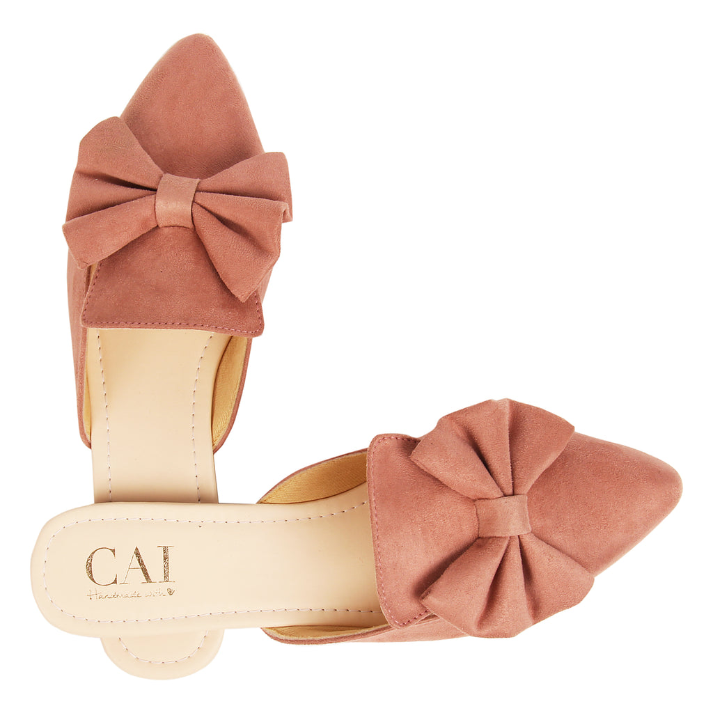 Blush bow tied