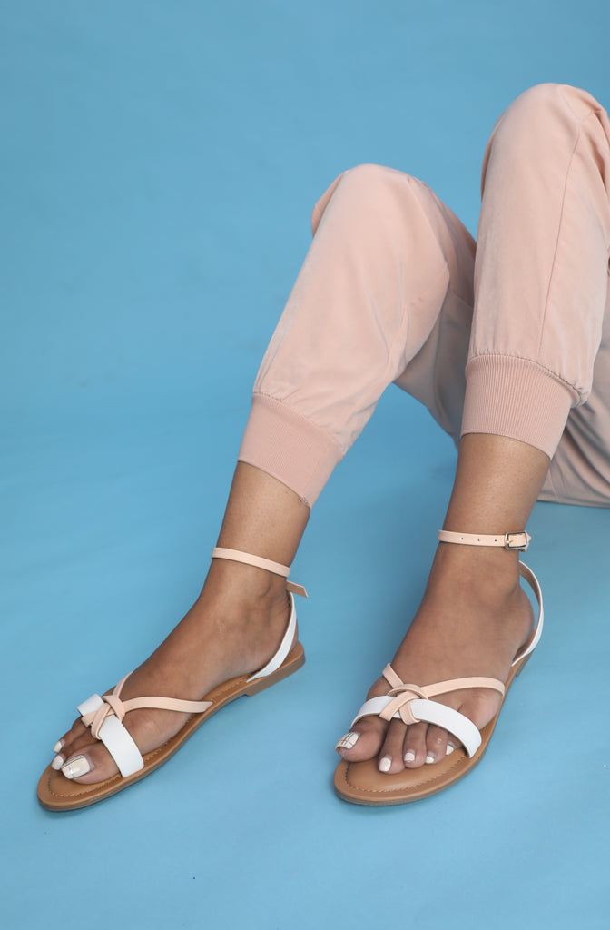 Peach & White Ankle Loop