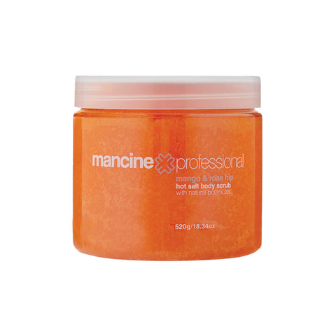 Mancine Hot Salt Body Scrub: Coconut & Vanilla