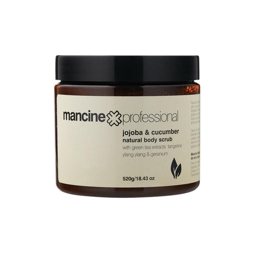 Mancine Natural Body Scrub: Jojoba & Cucumber