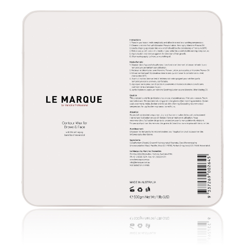 Le Marque Contour Hard Wax for face & Brows (1.1lbs) *