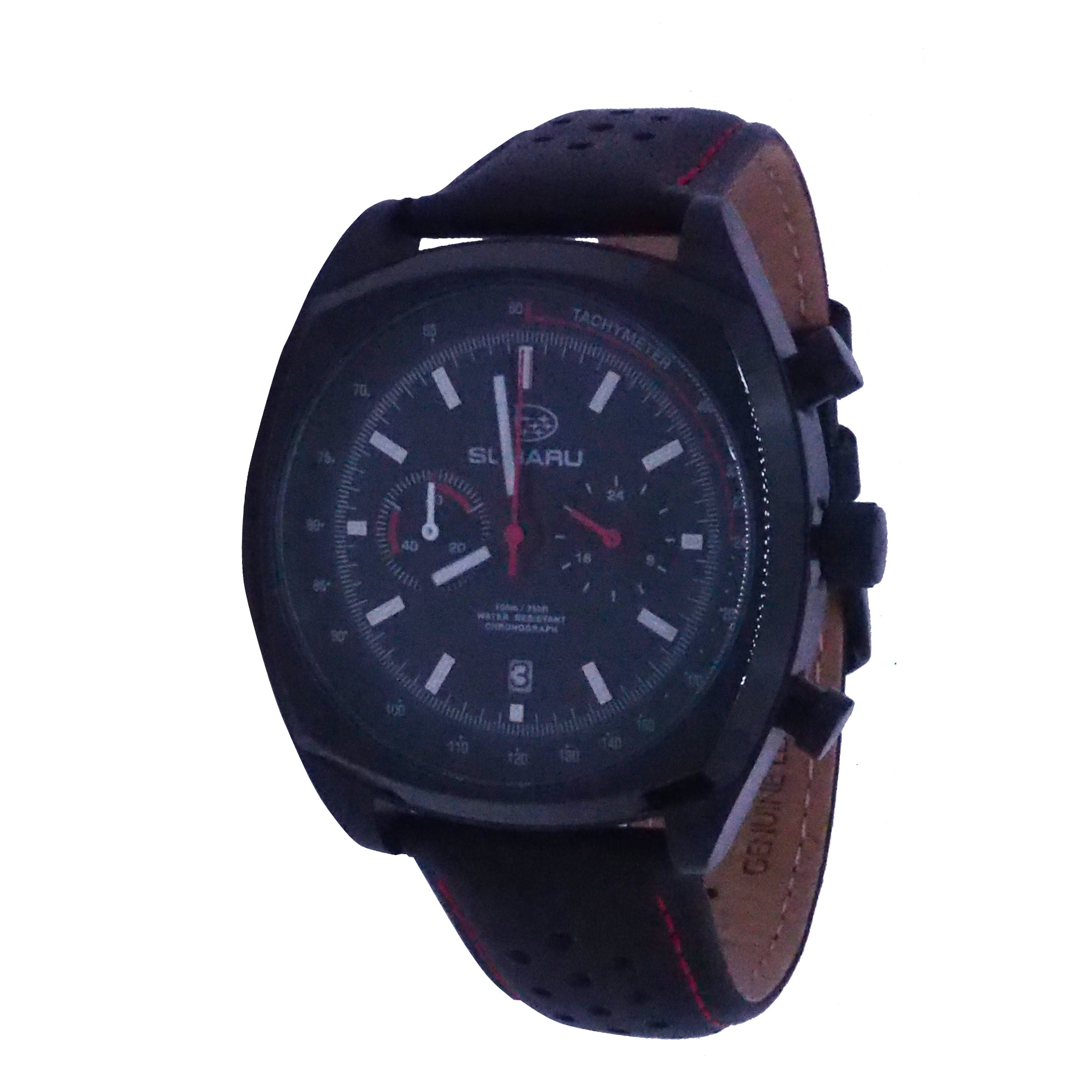 Subaru Motorsports Chronograph Leather Watch