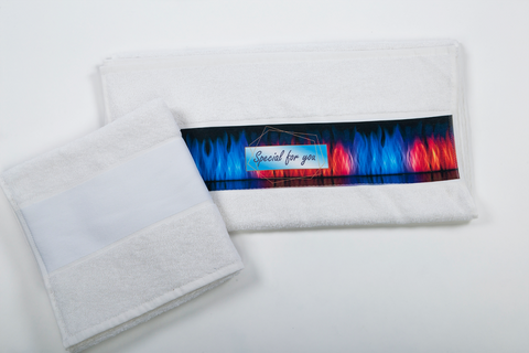 OLIMA TOWEL WITH SUBLIMATION BORDURE