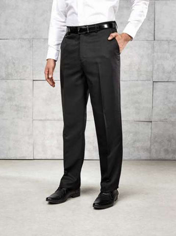 MEN'S SHORT FLAT FRONT HOSPITALITY TROUSER
