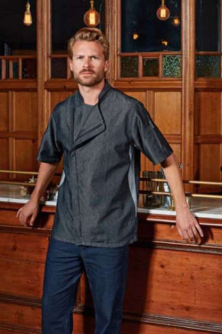 CHEF'S ZIP-CLOSE SHORT SLEEVE JACKET