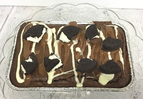 Chocolate Oreo Brownie Traybake
