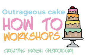 How to workshop - Sugarcraft skills - Creating brush embroidery