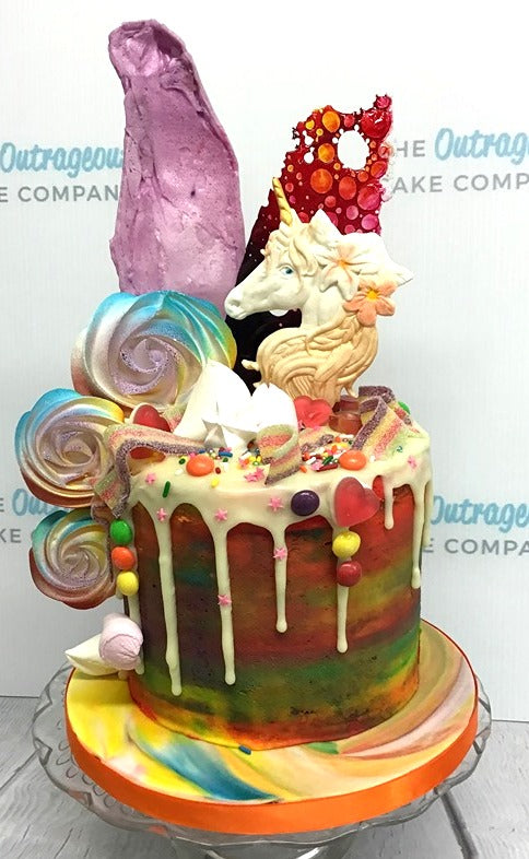 Unicorn Rainbow Drip Cake
