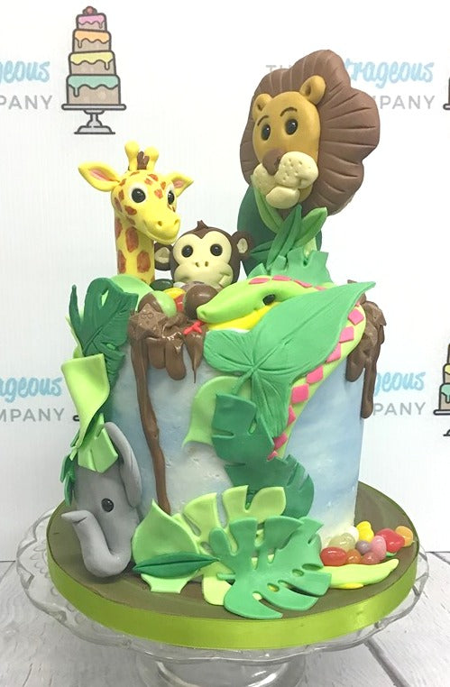 Cute overload Jungle drip Cake