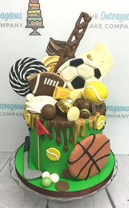Outrageous Sports Drip Cake