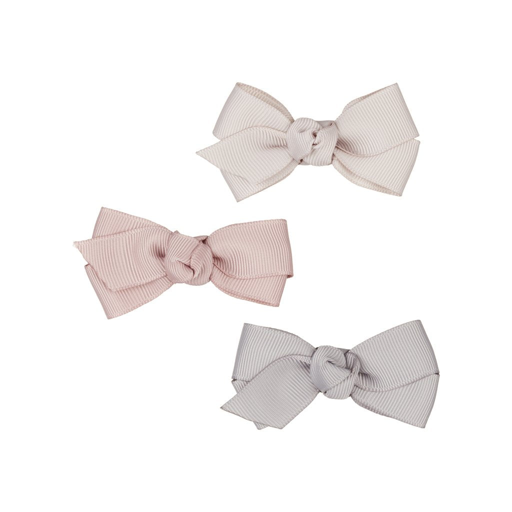 Florence bow clips pink
