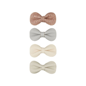 Gracie bow clips neutral
