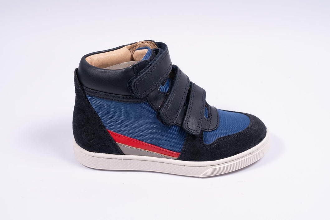 10IS navy hoge sneaker met rubberen tip
