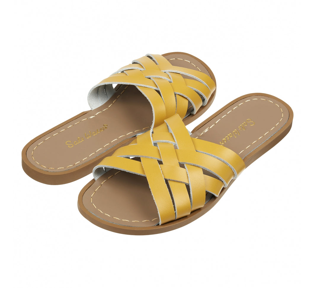 Salt Water Sandal retro slide Mustard