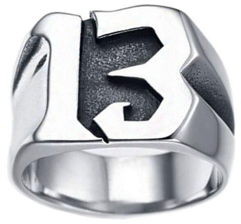 bague 13 bikers en 3 dimensions