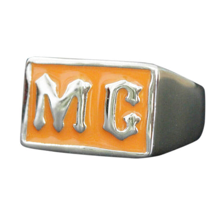 bague-bikers-moto-club-M-C-orange