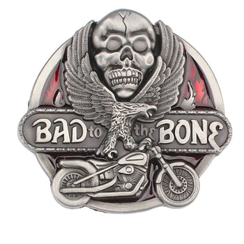 Boucle de Ceinturon Tête de Mort Bad To The Bone