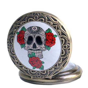 Montre Gousset Skull Mexicaine