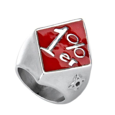 bague-bikers-1%er-losange-rouge
