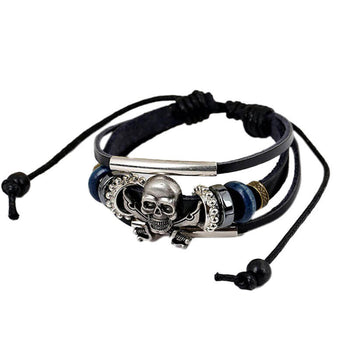 Bracelet Pirate Cuir (Wrap)