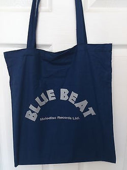 BLUE BEAT COTTON TOTE BAG (Machine Washable)