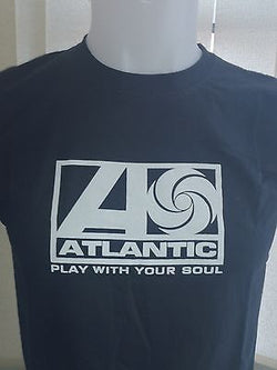 1960's ATLANTIC PLAY WITH YOUR SOUL - NORTHERN SOUL - T-SHIRT (Black Cotton)