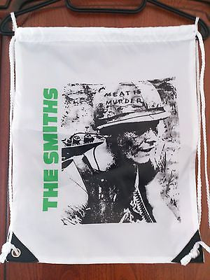 MEAT IS MURDER - THE SMITHS - DRAW STRING BACKPACK - IDEAL AS SWIMMING BAG