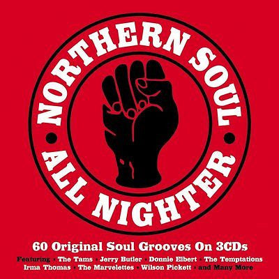 NORTHERN SOUL ALL NIGHTER ( 60 Original Soul Grooves on 3 CD's) ONE DAY MUSIC