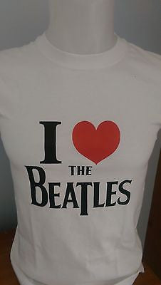 THE BEATLES - I LOVE THE BEATLES - 100% COTTON T-SHIRT - CREW NECK