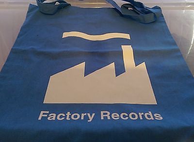 FACTORY RECORDS - BLUE COTTON TOTE BAG (Machine Washable)