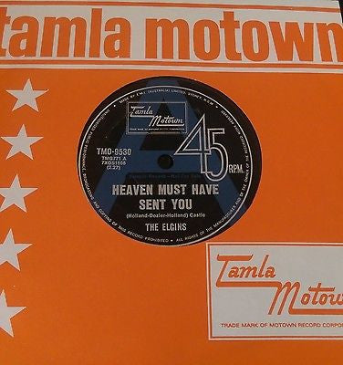 THE ELGINS - HEAVEN MUST HAVE SENT YOU (TAMLA MOTOWN-AUSTRALIAN DEMO) Ex Condition