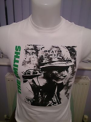 THE SMITHS -  MEAT IS MURDER - LIGHT GREY 100 % COTTON T-SHIRT FRUIT OF THE LOOM